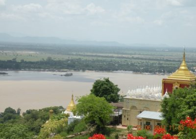 Scene from top of Sagaing Hill